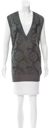 Dries Van Noten Intarsia Sleeveless Sweater