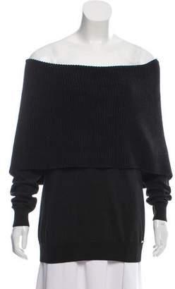Michael Kors Metallic Cowl Neck Sweater