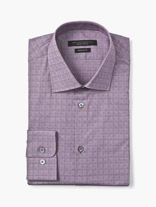 John Varvatos Regular Fit Check Dress Shirt