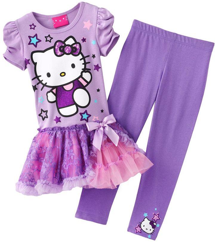Hello Kitty startutu & legging set- toddler