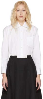 Comme des Garcons White Satin Collar Shirt