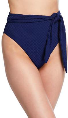 Mara Hoffman Goldie High-Waist Tie-Front High-Leg Bikini Bottom