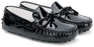 Tod's Kids patent Gommino loafers