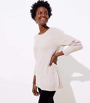 LOFT Side Zip Tunic Sweater