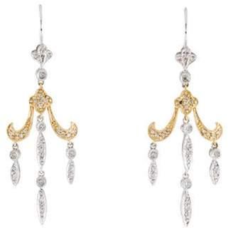 14K Diamond Chandelier Earrings gold 14K Diamond Chandelier Earrings
