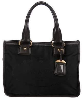 Prada Leather-Trimmed Tessuto Satchel