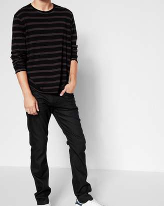 7 For All Mankind Airweft Denim Paxtyn Skinny with Clean Pocket in Soiree Black