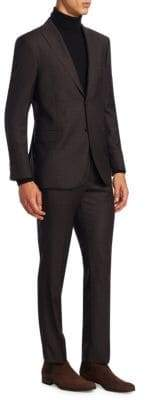 Saks Fifth Avenue COLLECTION Plaid Wool Suit