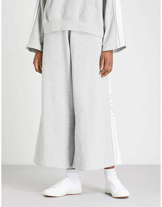 Sjyp Side-stripe wide-leg jersey jogging bottoms