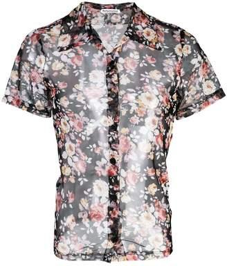Reformation Charisma sheer floral print shirt