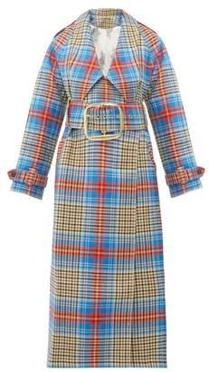 Charles Jeffrey Loverboy Tartan Wool Twill Trench Coat - Womens - Beige Multi