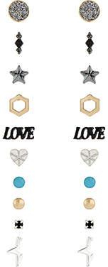 Accessorize 20x Shimmer Stud Earrings Set