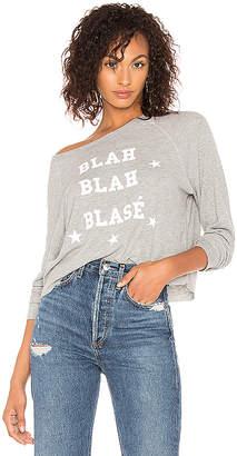 Wildfox Couture Blah Blah Blase Monte Crop Pullover