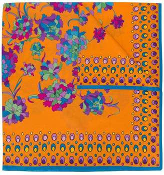 La DoubleJ floral print square scarf