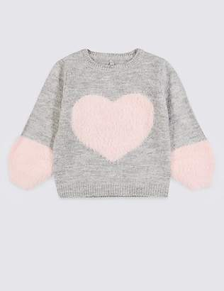 Marks and Spencer Heart Knitted Jumper (3 Months - 7 Years)