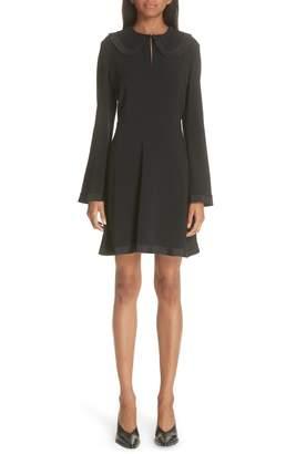 Stella McCartney Ruffle Trim Keyhole Dress
