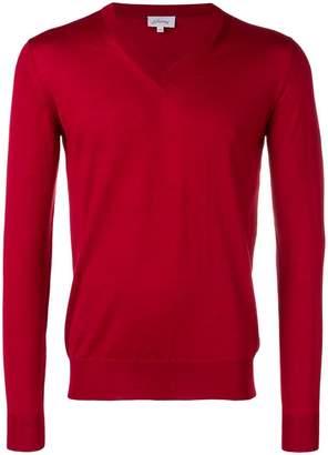 Brioni v-neck fine knit sweater
