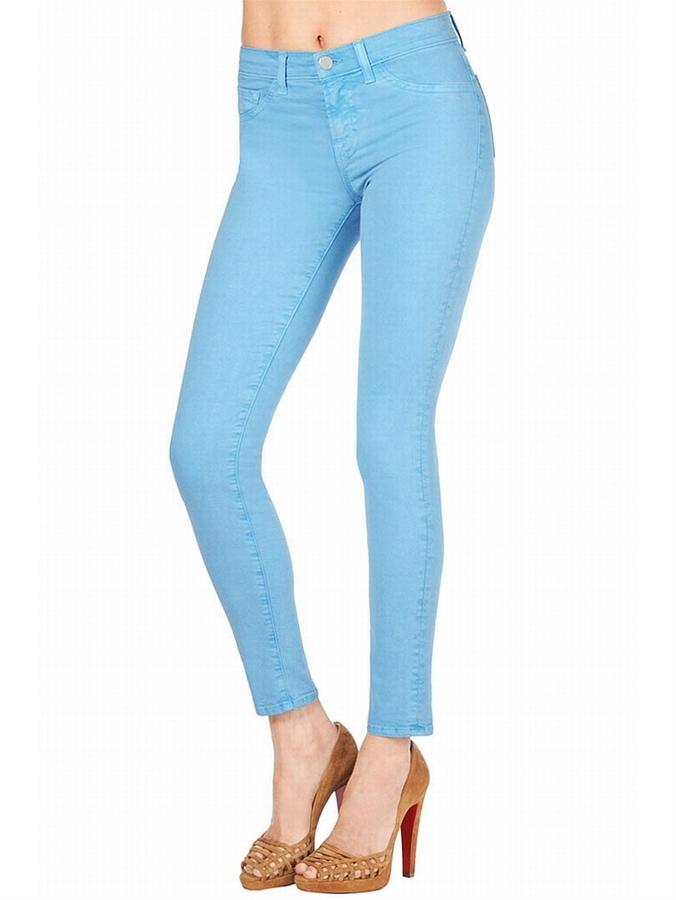J BRAND 811 Mid-Rise Skinny Jean In Neon Blue