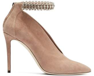 Jimmy Choo Lux 100 Suede Pumps - Womens - Nude