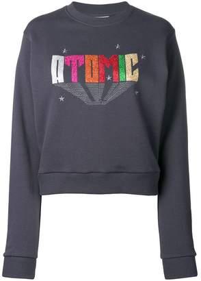 Chiara Ferragni metallic print sweatshirt