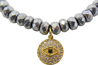 Dripping In Gems Evil Eye Charm Bracelet