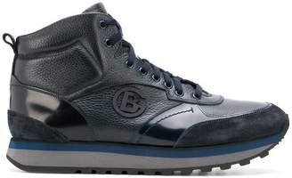 Baldinini logo plaque hi-top sneakers