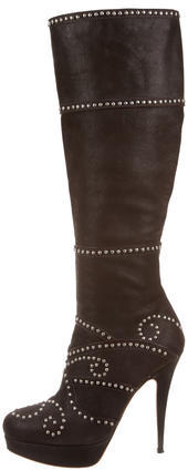 Miu MiuMiu Miu Studded Leather Boots
