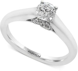 Effy Infinite Love Diamond Infinity Engagement Ring (1/2 ct. t.w.) in 18k White Gold