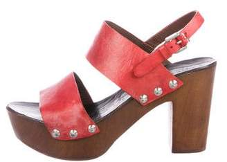 Henry Beguelin Leather Ankle Strap Sandals