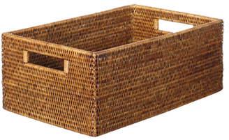 OKA Rattan Low Delta Storage Box, Small