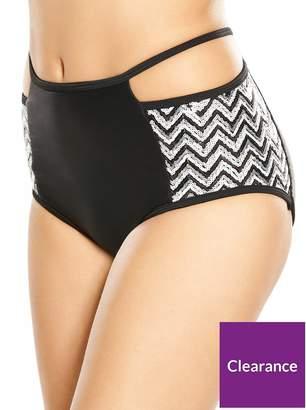 Rare Sequin Cut Out High Waist Bikini Bottom