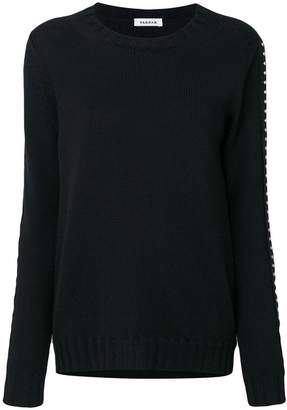 P.A.R.O.S.H. studded sleeves sweatshirt