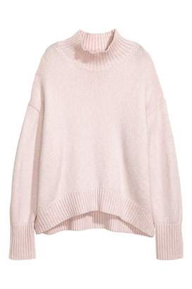 H&M Knit Turtleneck Sweater - Powder pink - Women