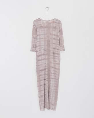 Raquel Allegra Pink Tie-Dye Half Sleeve Caftan Dress