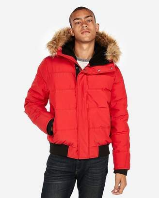Express Faux Fur-Lined Water-Resistant Puffer Coat