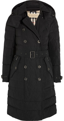 Burberry - Quilted Shell Down Coat - Black $995 thestylecure.com