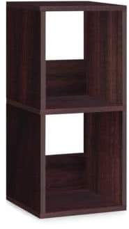 ZBoard Eco-Friendly Storage Two-Shelf Espresso Bookcase Lifetime Guarantee