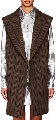 Calvin Klein Women's Herringbone Wool-Silk Oversized Vest