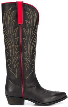 Semi-Couture Semicouture stitch-detail knee-high boots
