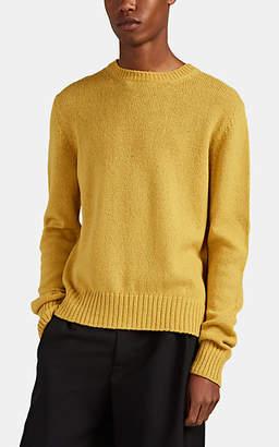 Prada Men's Virgin Wool Crewneck Sweater - Yellow