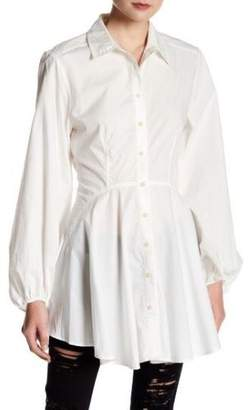 Free People All The Time Tunic Shirt Long Sleeve Top XS