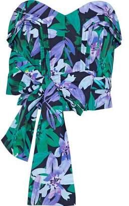 Marissa Webb Ashten Strapless Floral-Print Cotton-Poplin Bustier Top