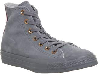 Converse Hi Leather Trainers Mason Mouse Blush Gold Exclusive