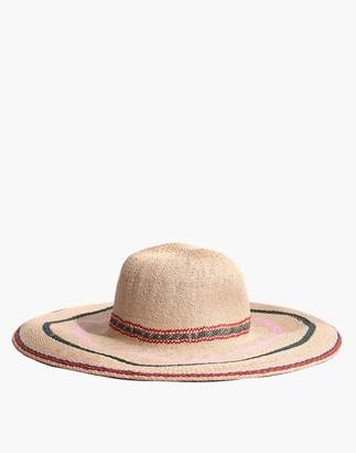 Madewell x Biltmore Tulum Striped Straw Hat