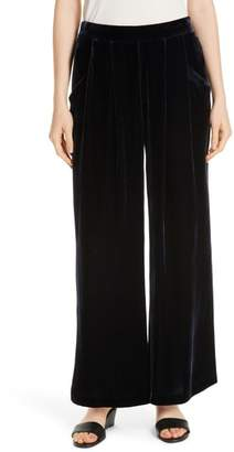 Eileen Fisher Wide Leg Velvet Ankle Pants