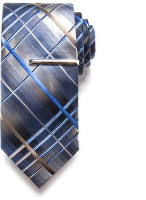 Apt. 9 Solid Satin Tie with Tie Bar