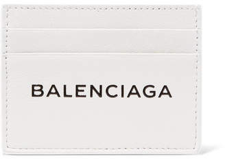 Balenciaga Everyday Printed Textured-leather Cardholder - White