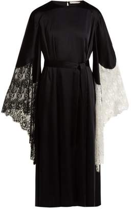 Christopher Kane Laced-trimmed crepe dress