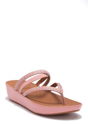 FitFlop Linny Crisscross Wedge Thong Sandal
