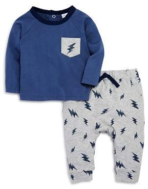 Bloomingdale's Bloomie's Boys' Lightning-Print Shirt & Jogger Pants Set, Baby - 100% Exclusive